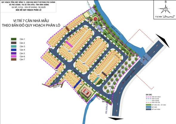 Phối cảnh các căn nhà liền kề tại dự án VietSing Phú Chánh