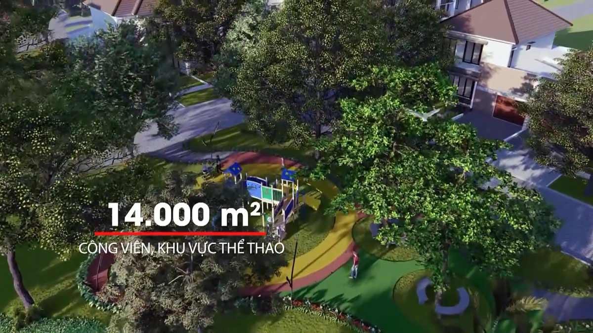 Công viên rộng 1400m2 của KDC Thăng Long Residence