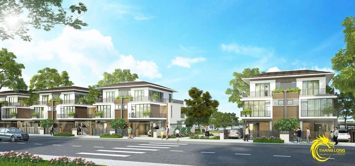Phối cảnh biệt thư dự án KDC Thăng Long Residence