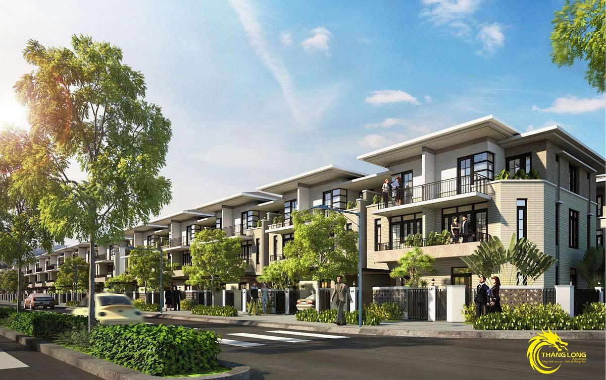 Phối cảnh 3d nhà phố dự án KDC Thăng Long Residence