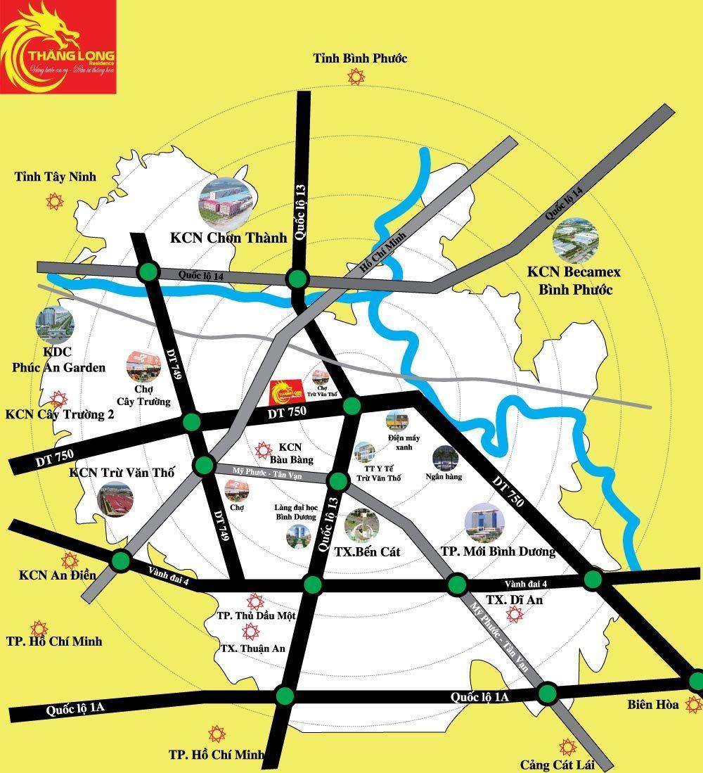 Vị trí dự án khu dân cư Thăng Long Residence