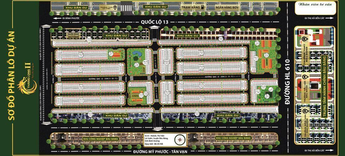 Mặt bằng phân lô của dự án Thăng Long Residence 2