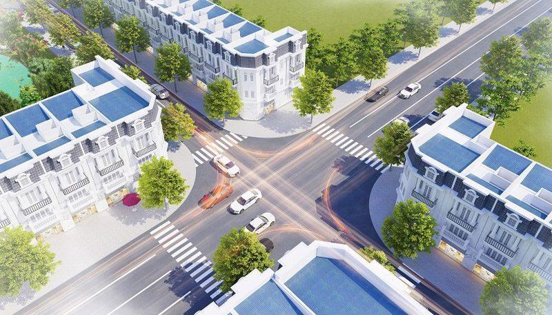 Phối cảnh đường nội khu Thăng Long Residence 2