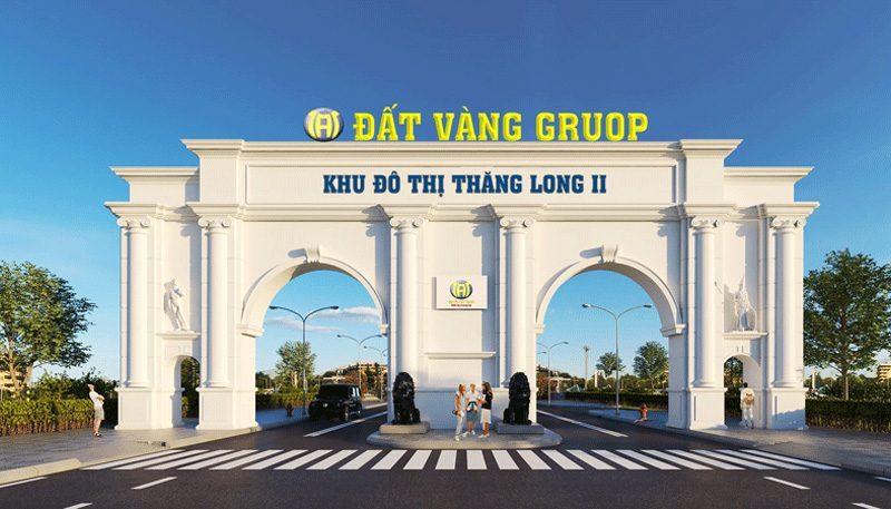 Phối cảnh cổng vào khu đô thị Thăng Long 2